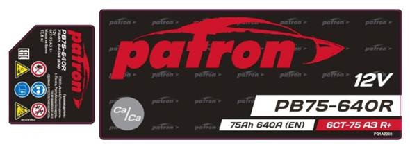 PATRON POWER 12V 75AH 640A - НОВИНКА
